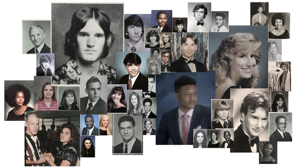 Photos from Tampa Bay area yearbooks show what stars looked like when they attended local high schools.