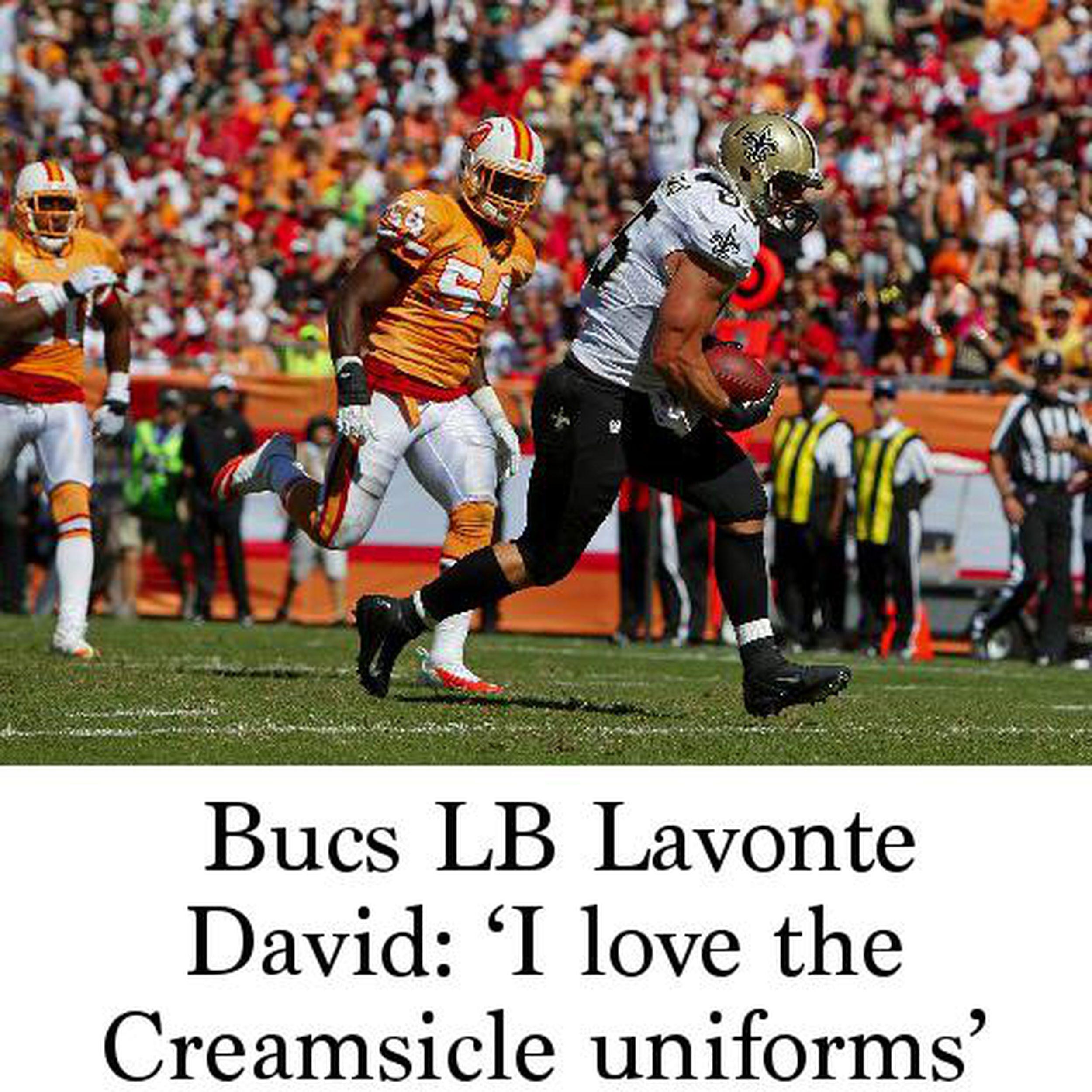 new concept ef7aa 78cae Bucs LB Lavonte David: 'I love the Creamsicle uniforms'