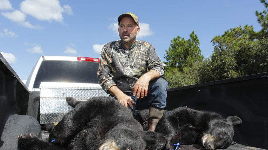 Richard Sajko of Valrico talks about how he killed one of the two bears on the back of his pickup truck in 2015 during the first Florida Black Bear hunt in 21 years at the Rock Springs Run Wildlife Management Area near Lake Mary. The hunt was so controversial that state officials have not held a second one. [LUIS SANTANA | Times]