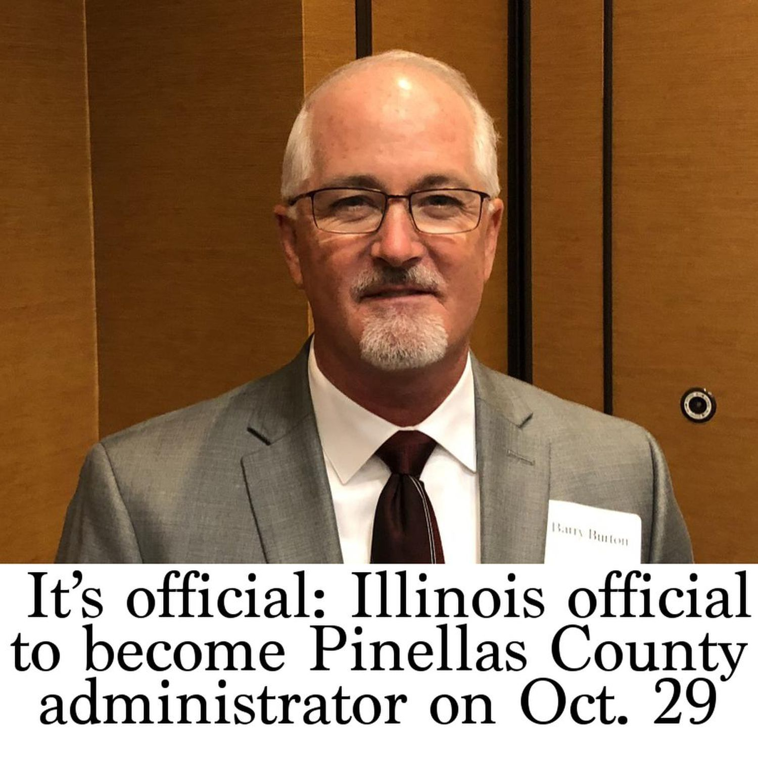 It's official: Illinois official to become Pinellas County