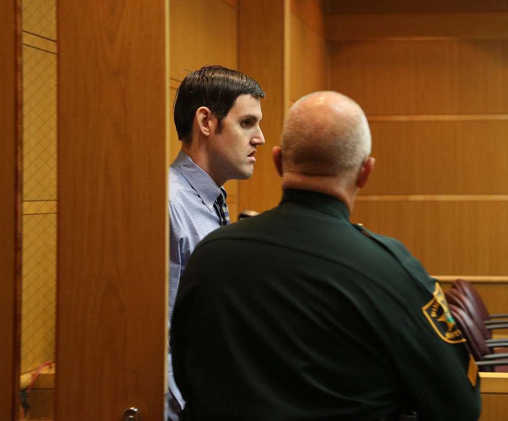 Defendant John Jonchuck enters the courtroom Tuesday morning. SCOTT KEELER | Times