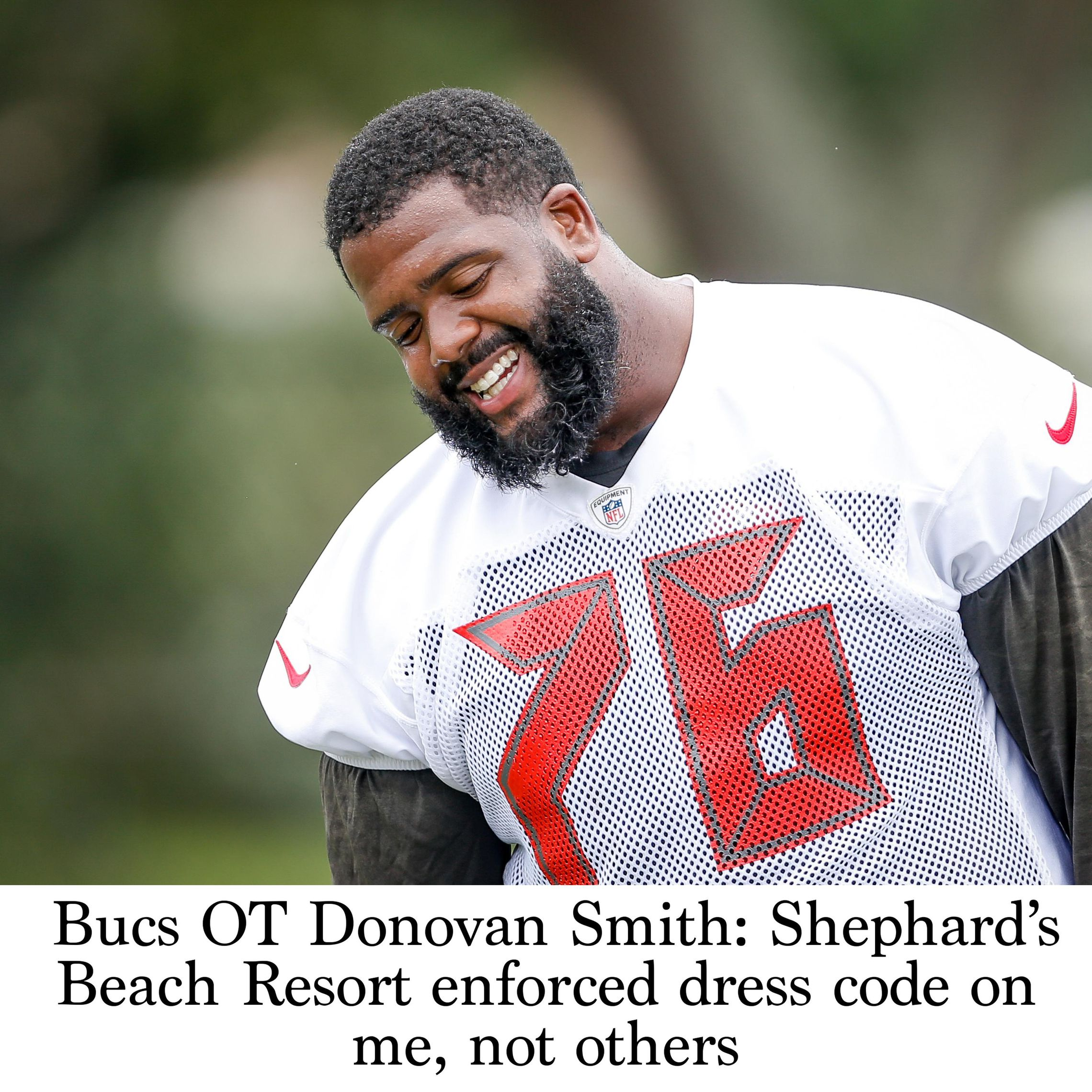 official photos 23514 b888d Bucs OT Donovan Smith: Shephard's Beach Resort enforced ...