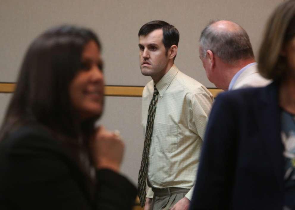 Defendant John Jonchuck leaves the courtroom on a break Wednesday. SCOTT KEELER | Times