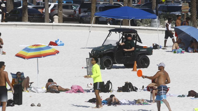 Coronavirus in Florida latest: fizzling fireworks, busy beaches and confusion over alcohol sales