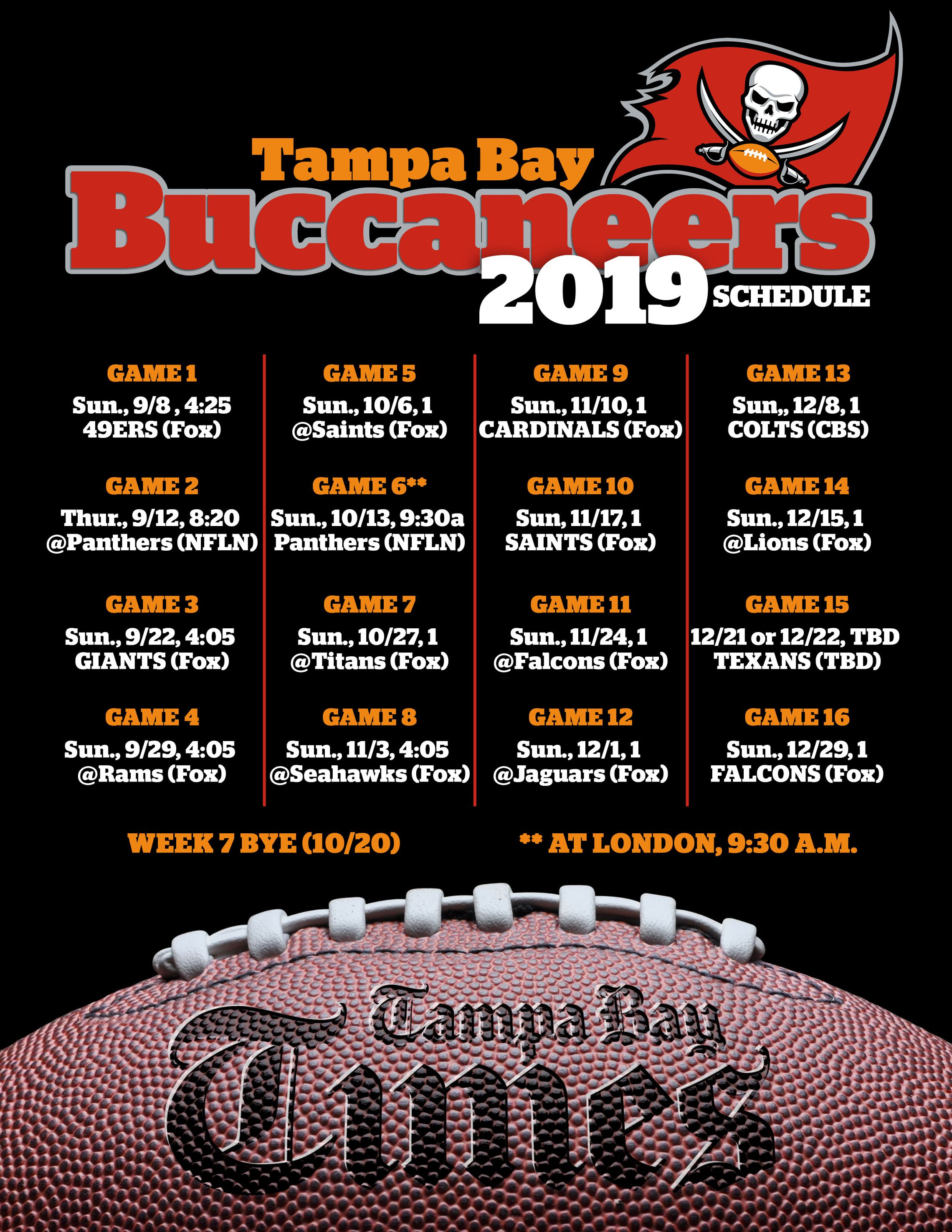 Bucs 2019 Schedule Early Road Stretch Could Be Franchise S Toughest Ever