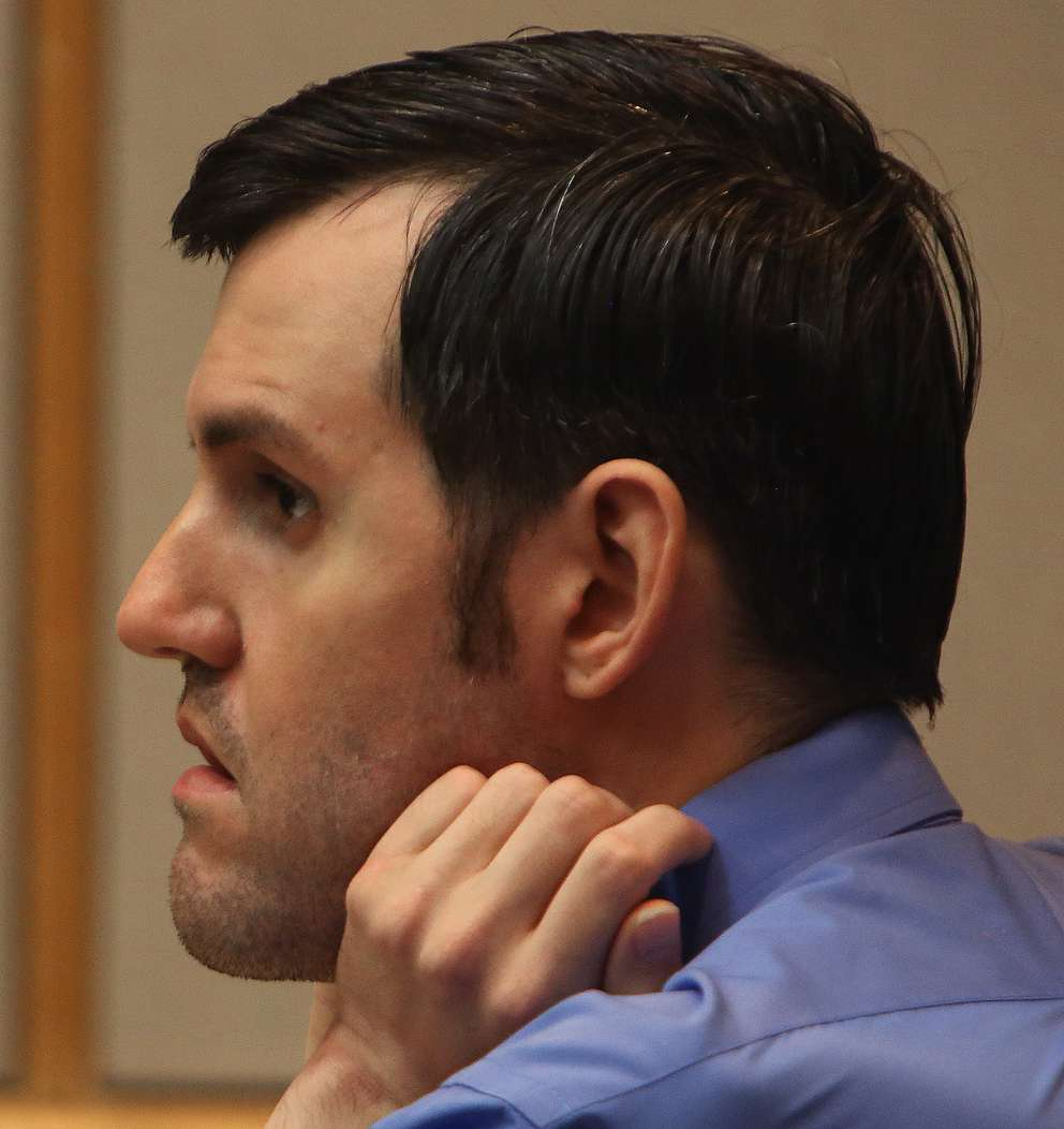 Defendant John Jonchuck listens in court Thursday as a doctor talks about his mental illness. SCOTT KEELER | Times