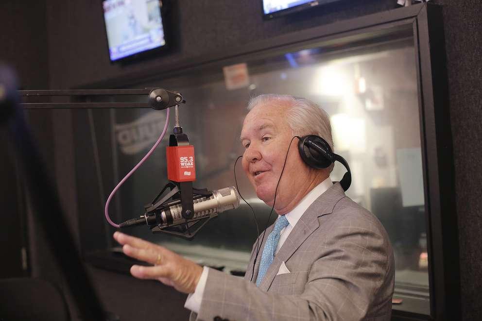 Mayor Bob Buckhorn makes a guest appearance on WDAE 95.3 FM Ronnie And TKras morning show on April 11. (OCTAVIO JONES | Times)