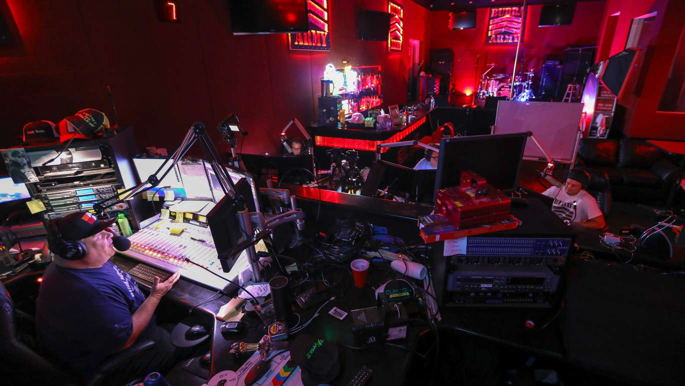 Bubba broadcasts from the Bubba Radio Network, the studio he owns on a side street in the Westshore Business District in Tampa. [CHRIS URSO   Times]