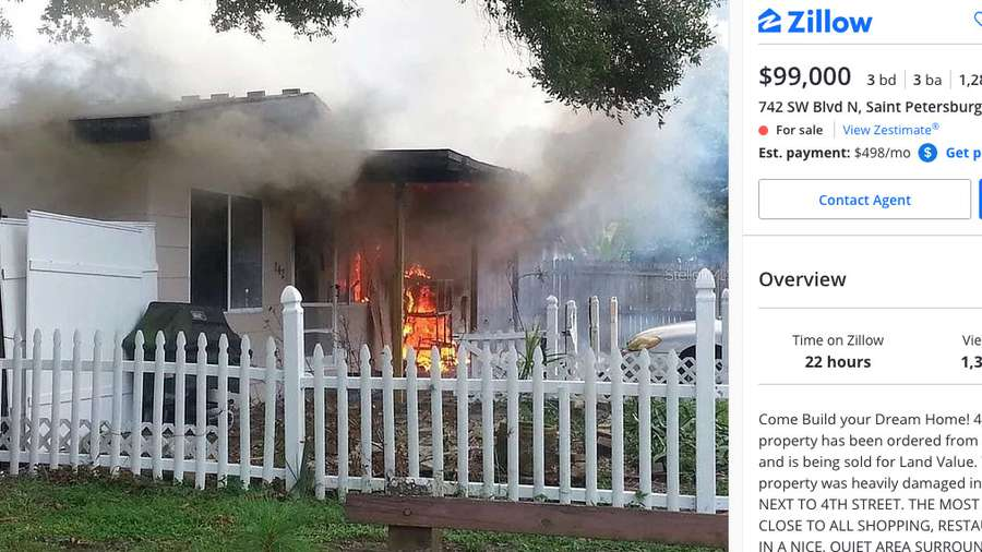 How hot is the real estate market? This St. Pete listing is on fire Zillow Property Value Map on zillow commercial, zillow aerial view, zillow floor plans, bing property map,