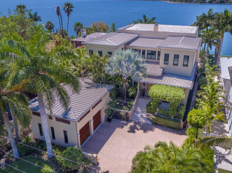 This home on Tampa's Davis Islands home sold in September for $5.2 million. [Courtesy of Judson Bray Photography]