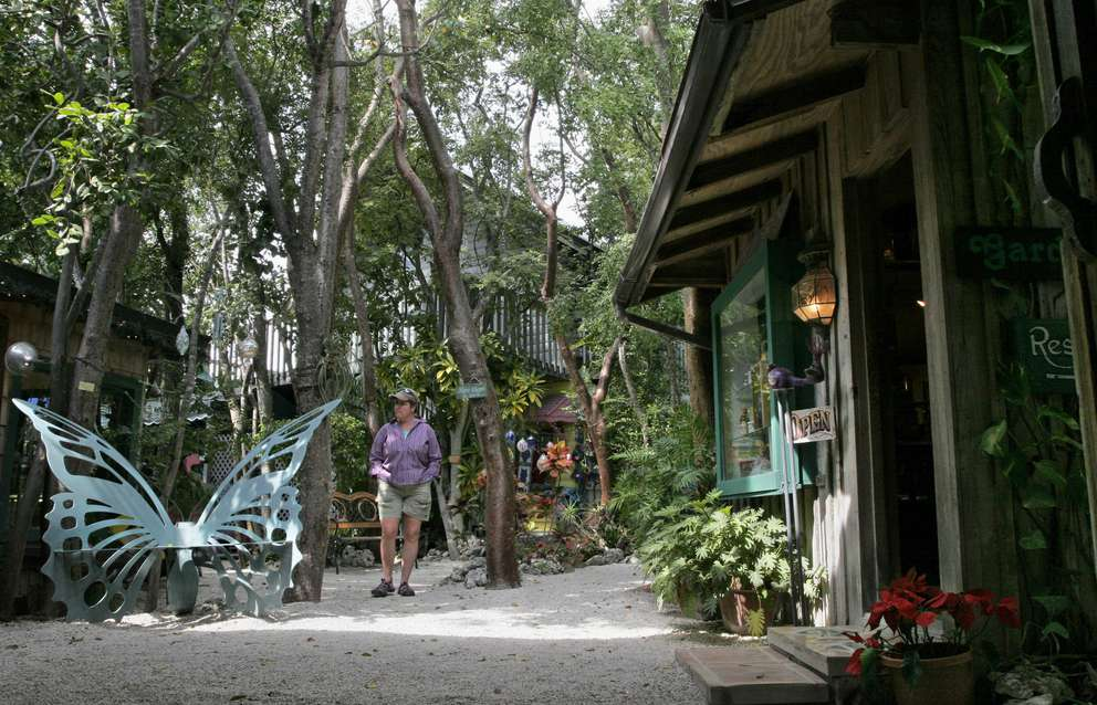 The Rain Barrel Artisans Village in Islamorada is made of several shops that display and sell local artists' creations. Times (2007)