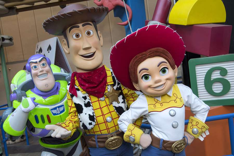 the trio will interact with guests in the new toy story land set to open june 30 2018 at disneys