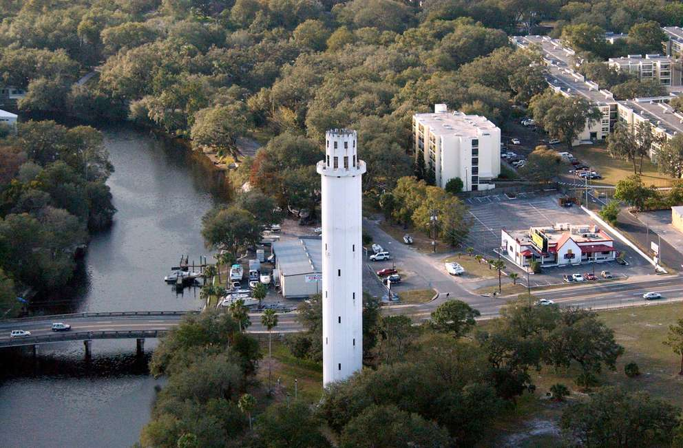 Sulphur Springs Water Tower. Photo from Eagle 8 by James Horan/WFLA