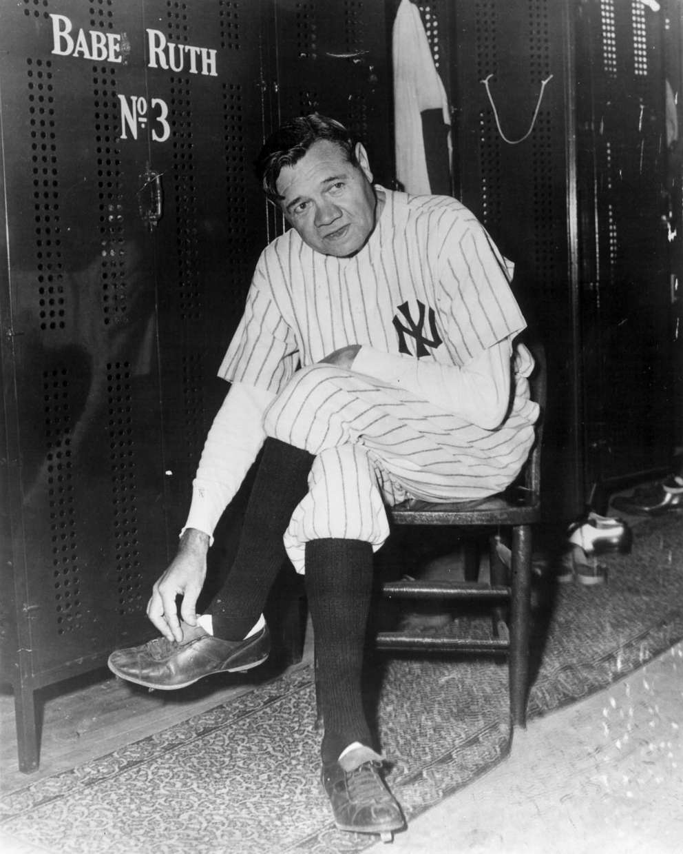 Babe Ruth, the great New York Yankees' slugger. Times.