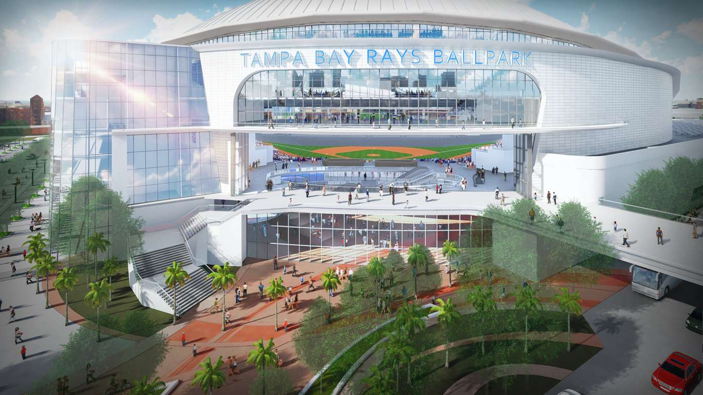 The Tampa Bay Rays revealed plans for their new stadium. [photo provided by the Tampa Bay Rays]