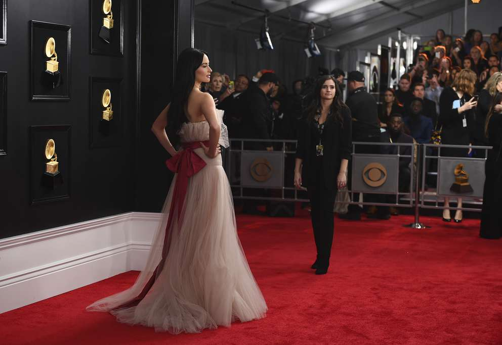 Kacey Musgraves arrives at the 61st annual Grammy Awards at the Staples Center on Sunday, Feb. 10, 2019, in Los Angeles. [Jordan Strauss | Invision/AP]
