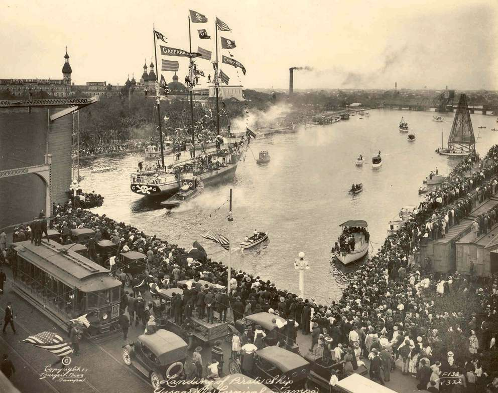 Gasparilla Pirate ship in 1920s. [Times archives]
