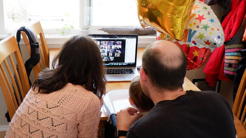 Grandparents, forced to miss first birthday, have to make do with Zoom