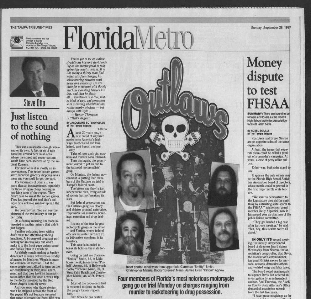A clipping from a 1997 issue of the Tampa Tribune. [Times archive]