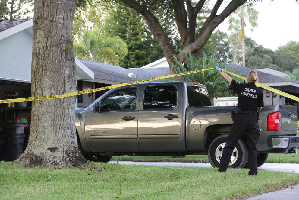 Police came to a Palm Harbor neighborhood inSeptember 2016 to investigate the death of a toddler found in a hot truck. The boy's father, Troy Whitaker, is a Hillsborough County Fire Rescue employee, and investigators found materials to evade a drug test in his home. Douglas Clifford | Times