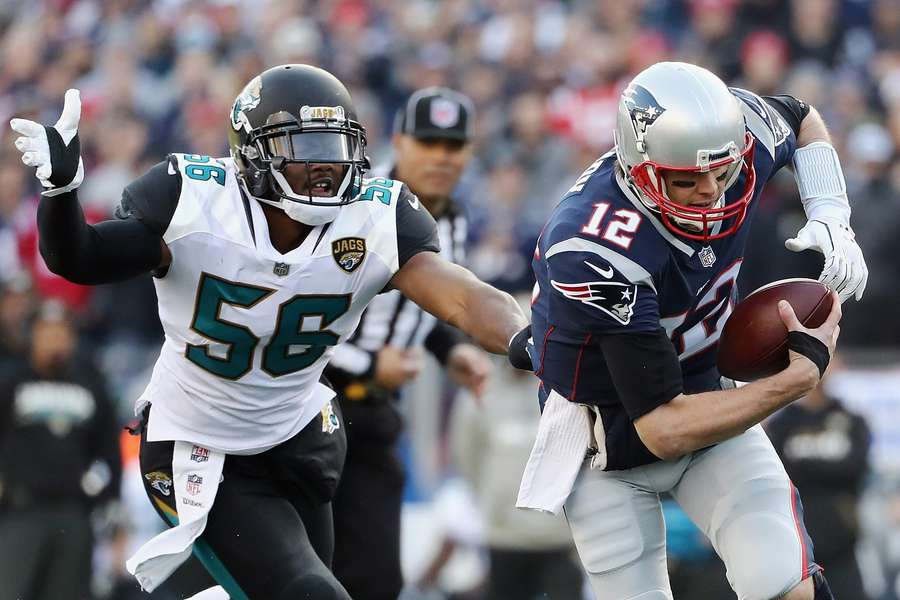 When not blitzed this season, Tom Brady threw 30 touchdown passes and five interceptions. When blitzed, he threw seven touchdown passes and three interceptions. [Getty Images]