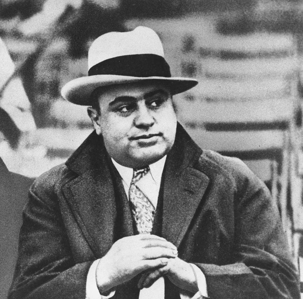 In this Jan. 19, 1931 file photo, Chicago mobster Al Capone is seen at a football game in Chicago. [AP]