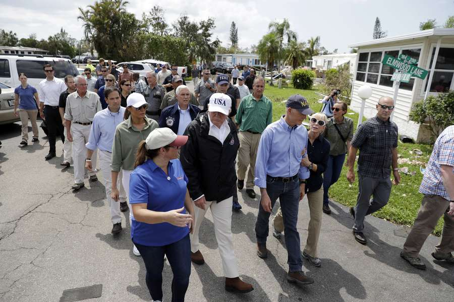 Trump to visit hurricane-ravaged Florida""