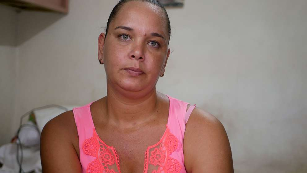 "Dagmary Batista, 33, has lived in Havana her entire life. She said housing officials tell her, ""We don't have a way to solve your problem."" [Photo by Tracey Eaton]"