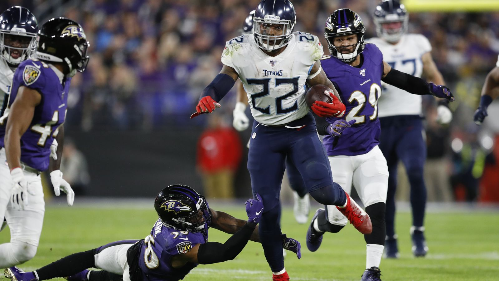 Derrick Henry Helps Power Tennessee Titans To Upset Of Baltimore Ravens