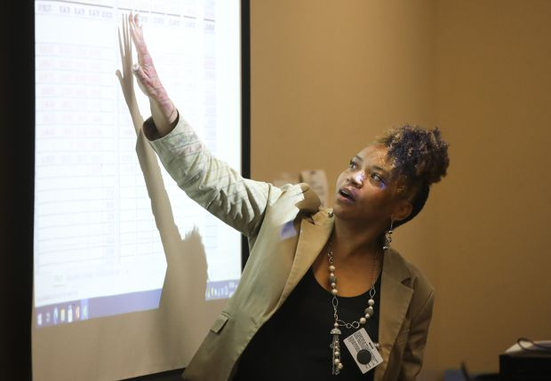 """Romaneir Johnson, chief financial officer for the Hillsborough County School District, tells School Board members that the district can dig out of its budget problems. """"I've seen districts in worse shape,"""" she said."""