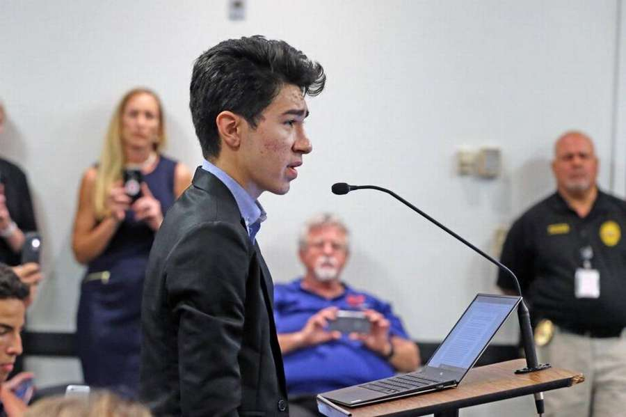 The Broward County School Board on Tuesday night voted unanimously against  arming school employees.