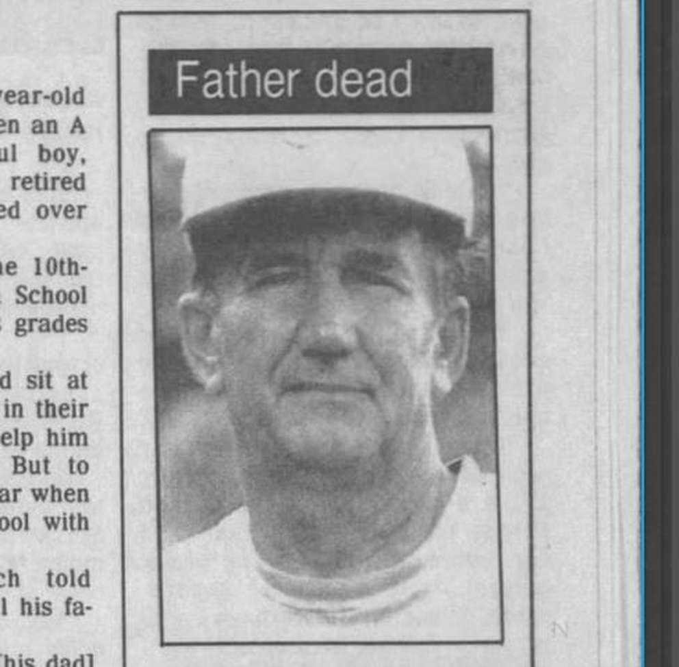 Oscar Welch, as seen in a photo that ran in the Tampa Tribune. [Times 1993]