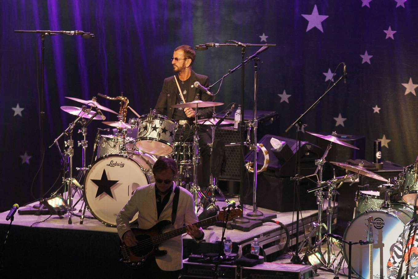 Ringo Starr Plays The Drums During A Friends Of Music Private Concert At Ruth Eckerd Hall