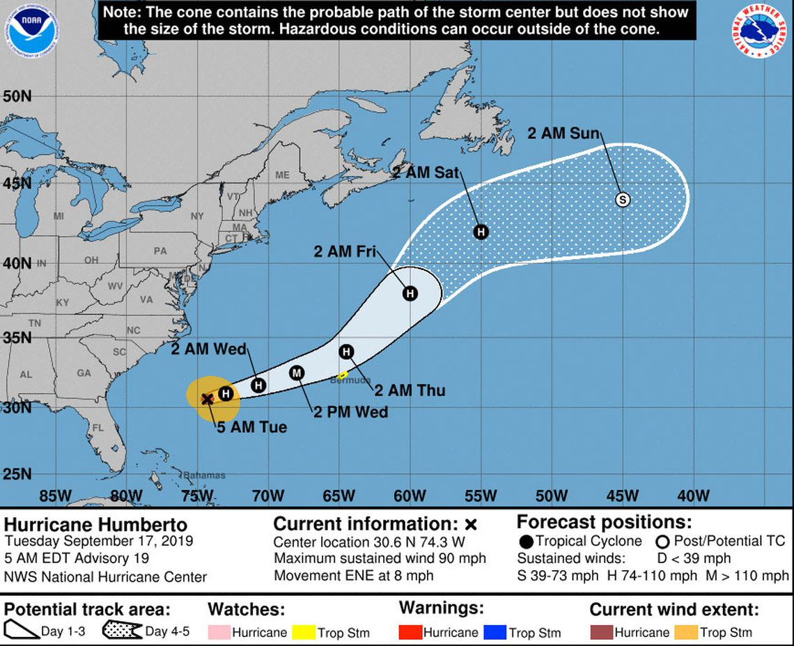 Tropical Depression Ten Has Formed But Is Expected To Miss Florida As Hurricane Forms