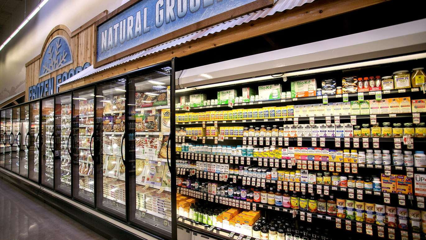 The refrigerated probiotic case, right, at Sprouts Farmers Market in Carrollwood at 15110 Dale Mabry Highway, Tampa,FL, Tuesday, February 21, 2017. It's the first Sprouts Farmers Market to open in Tampa and will open to the public Wednesday, Feb. 23. [CHERIE DIEZ | Times]