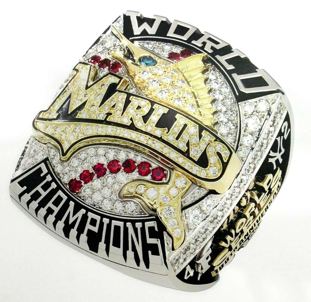 The Florida Marlins 2003 World Series ring. (AP Photo/The Florida Marlins)