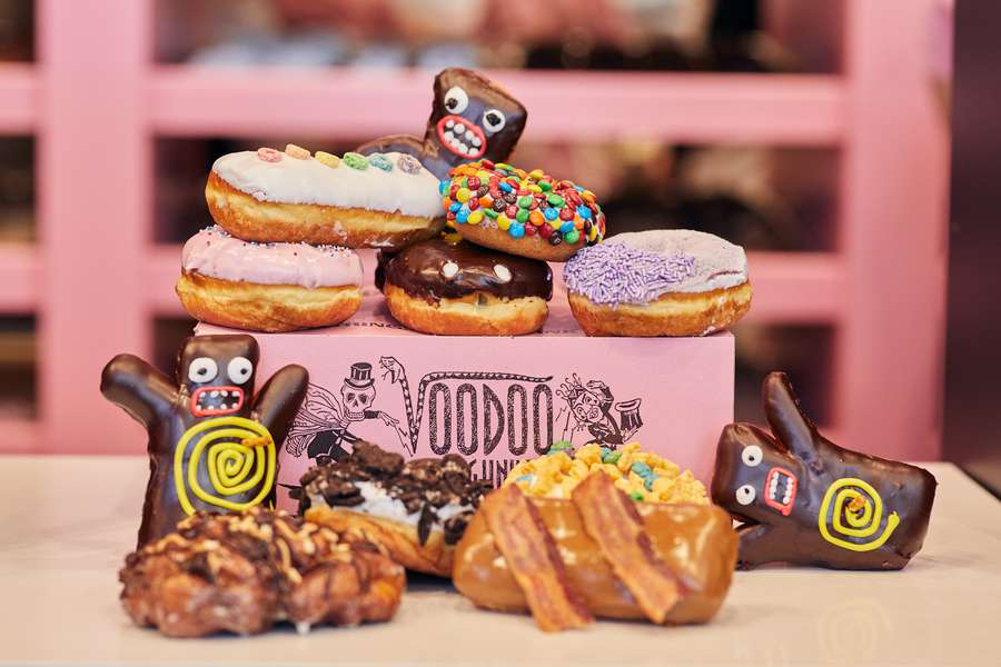 The Portland-based VooDoo Doughnut opened at CityWalk at Universal in Orlando. The first East Coast location for the doughnut shop with a cult following. [Courtesy Universal Orlando]
