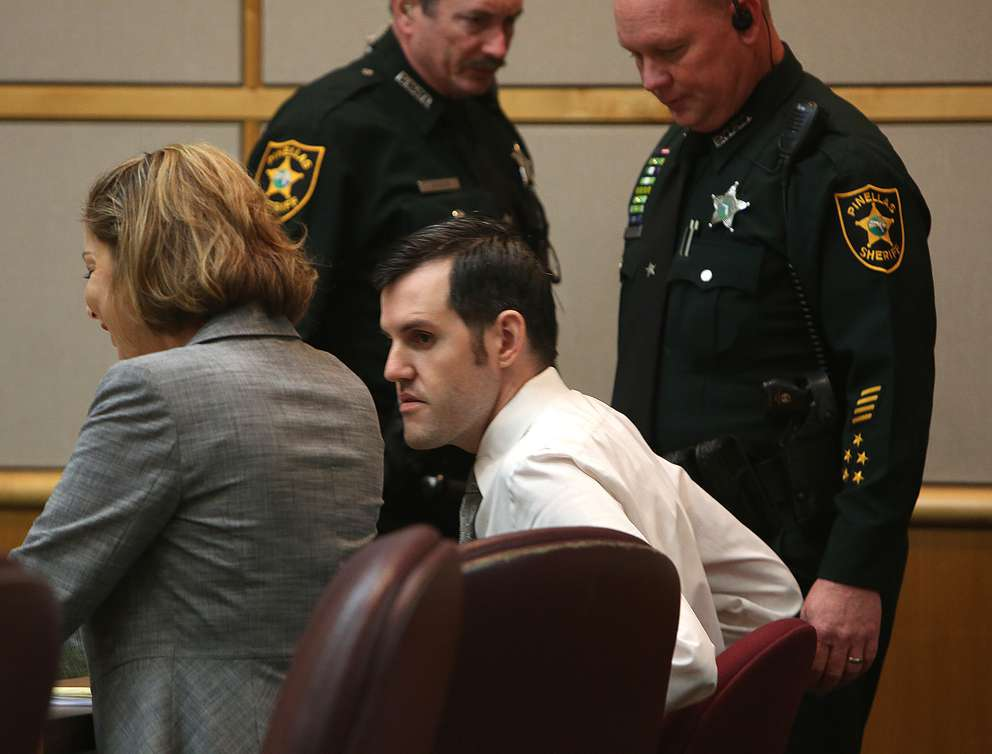 Defendant John Jonchuck takes his seat in the courtroom Wednesday. SCOTT KEELER | Times