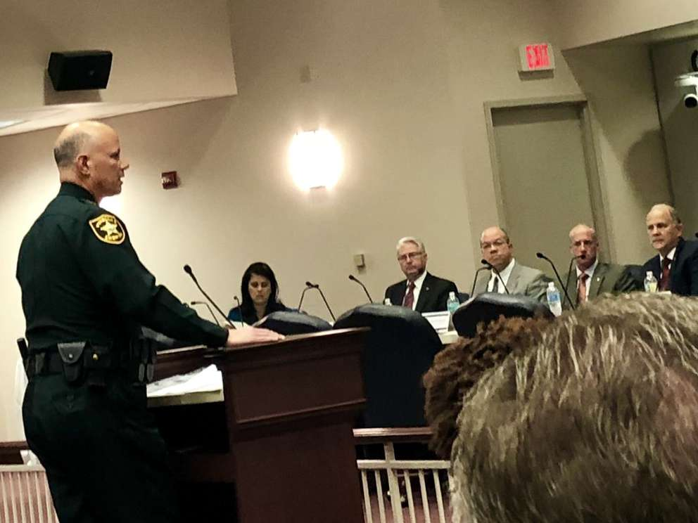 Gualtieri addresses the House Civil Justice Subcommittee in Tallahassee about the sanctuary city ban. He was a force in the bill's passage. [Courtesy Liberty Partners]