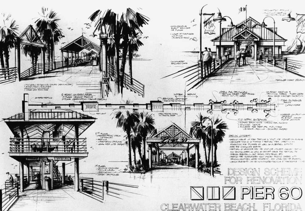 Entries by Robert Gregg and Paul Mims were choses as the winners of the Beach Blue Ribbon Task Force's design contest for Pier 60. Times.