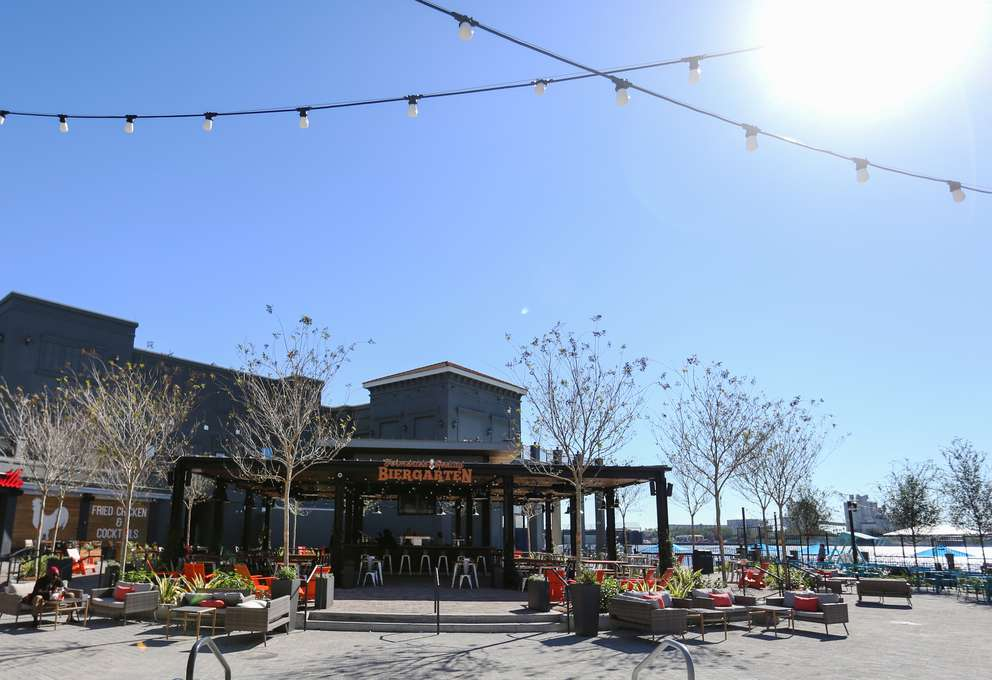 Fermented Reality Biergarten sits in the middle of Sparkman Wharf. [TAILYR IRVINE | Times]