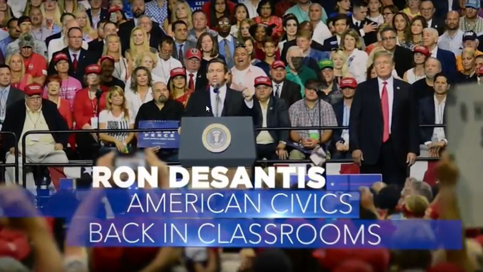 New Desantis Tv Ad Uses Footage From Trump Tampa Rally