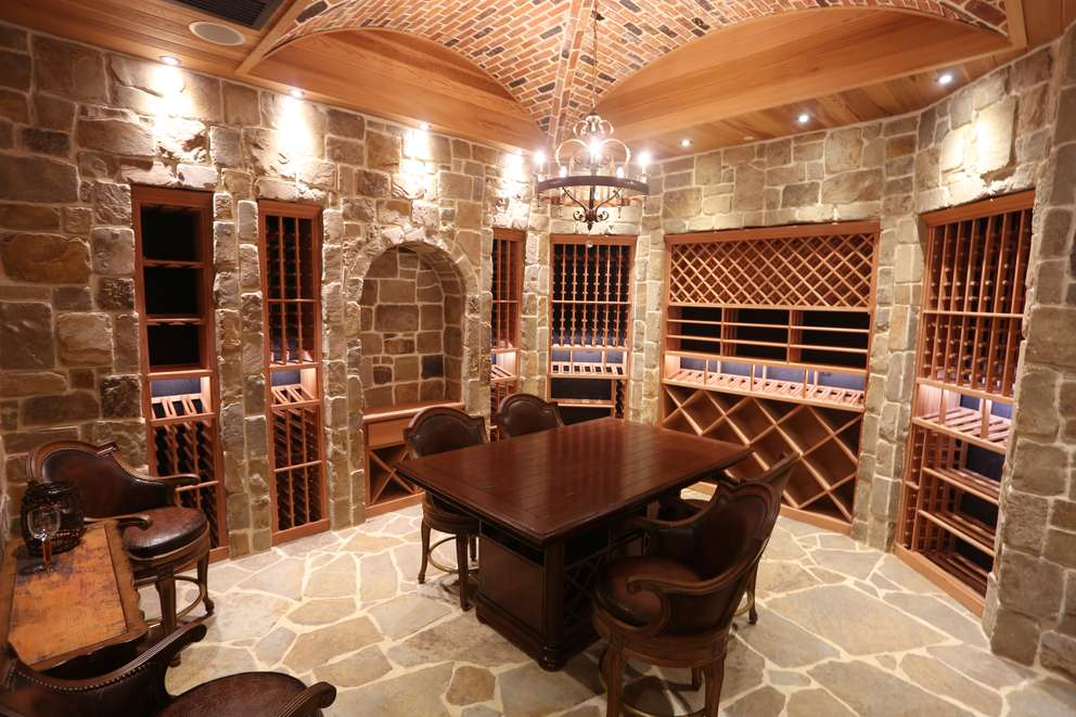 The private wine cellar can be seen in the 39,000-square-foot home in Belleair Shore that Ben and Karla Mallah purchased for a record $16.5 million. [SCOTT KEELER | Times]