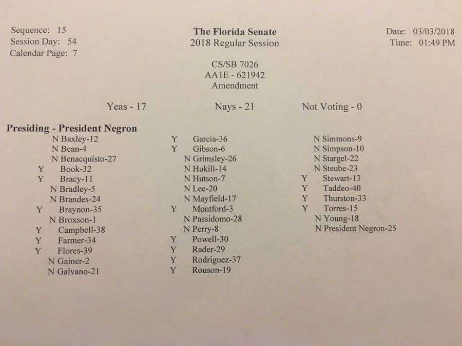 Fla. Senate debates bill to increase school safety, restrict gun purchases