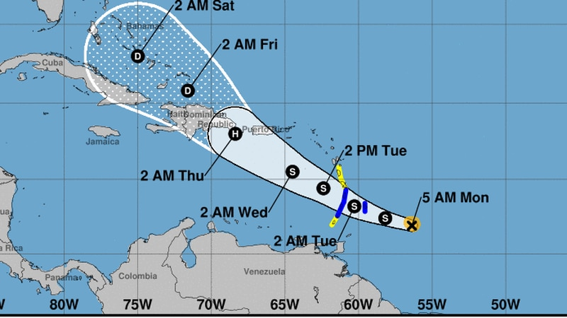Tropical Storm Dorian could become hurricane as it nears Puerto Rico Thursday