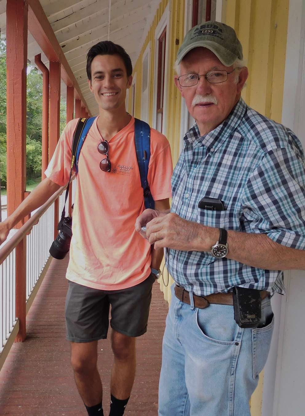 Samuel Thomas, 24, is pictured with his grandfather. Provided by Samuel Thomas