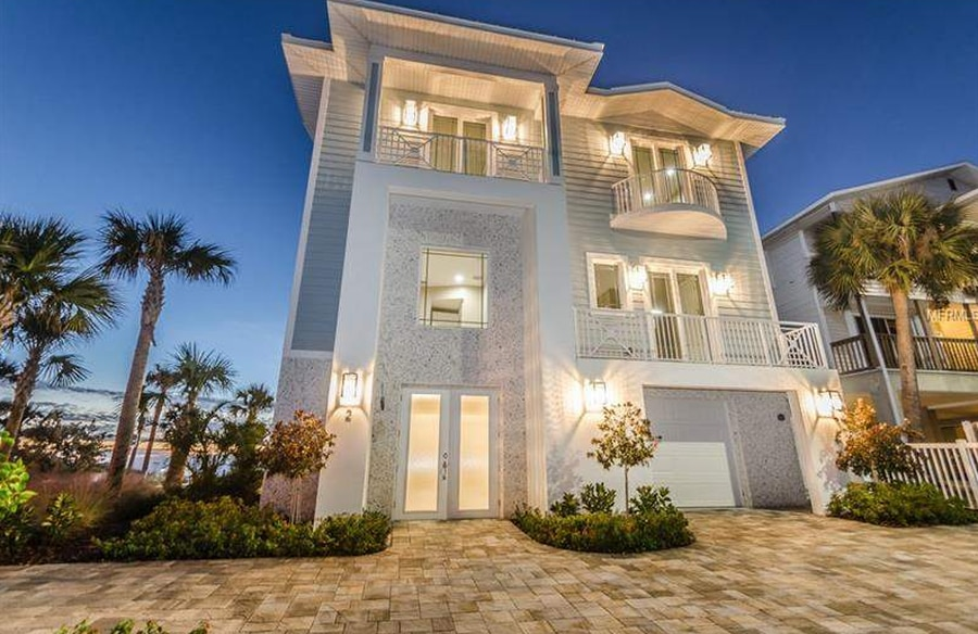 This home on Gulf Boulevard in Indian Rocks Beach sold in April for $3.84 million. [Courtesy of Coastal Properties Group]