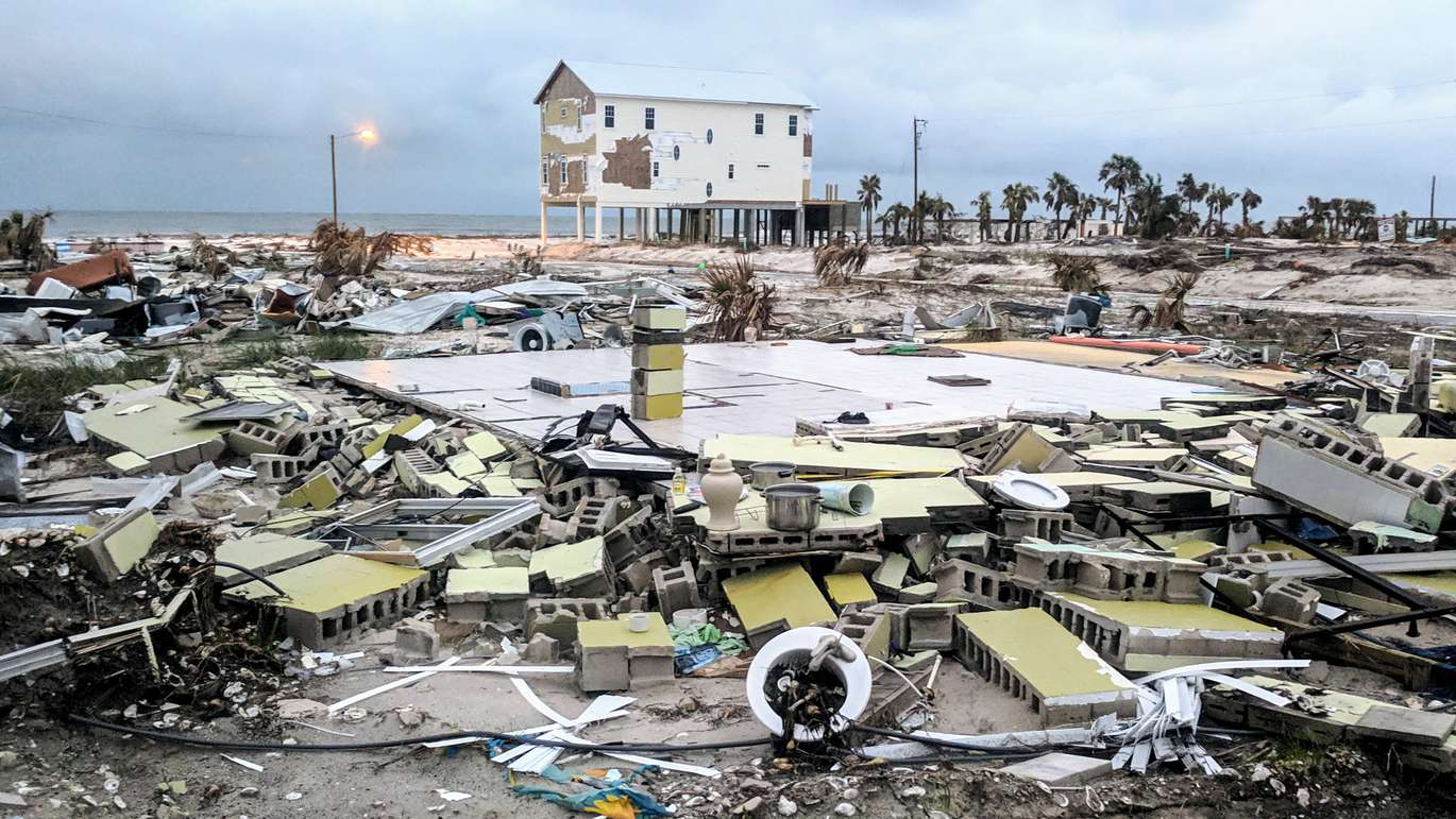 Mexico Beach remains in a suspended state of destruction on Sunday (12/9/18), two months after Hurricane Michael made landfall on October 10, 2018 near Mexico Beach, with top sustained winds of 155 mph. (DOUGLAS R. CLIFFORD | Times)
