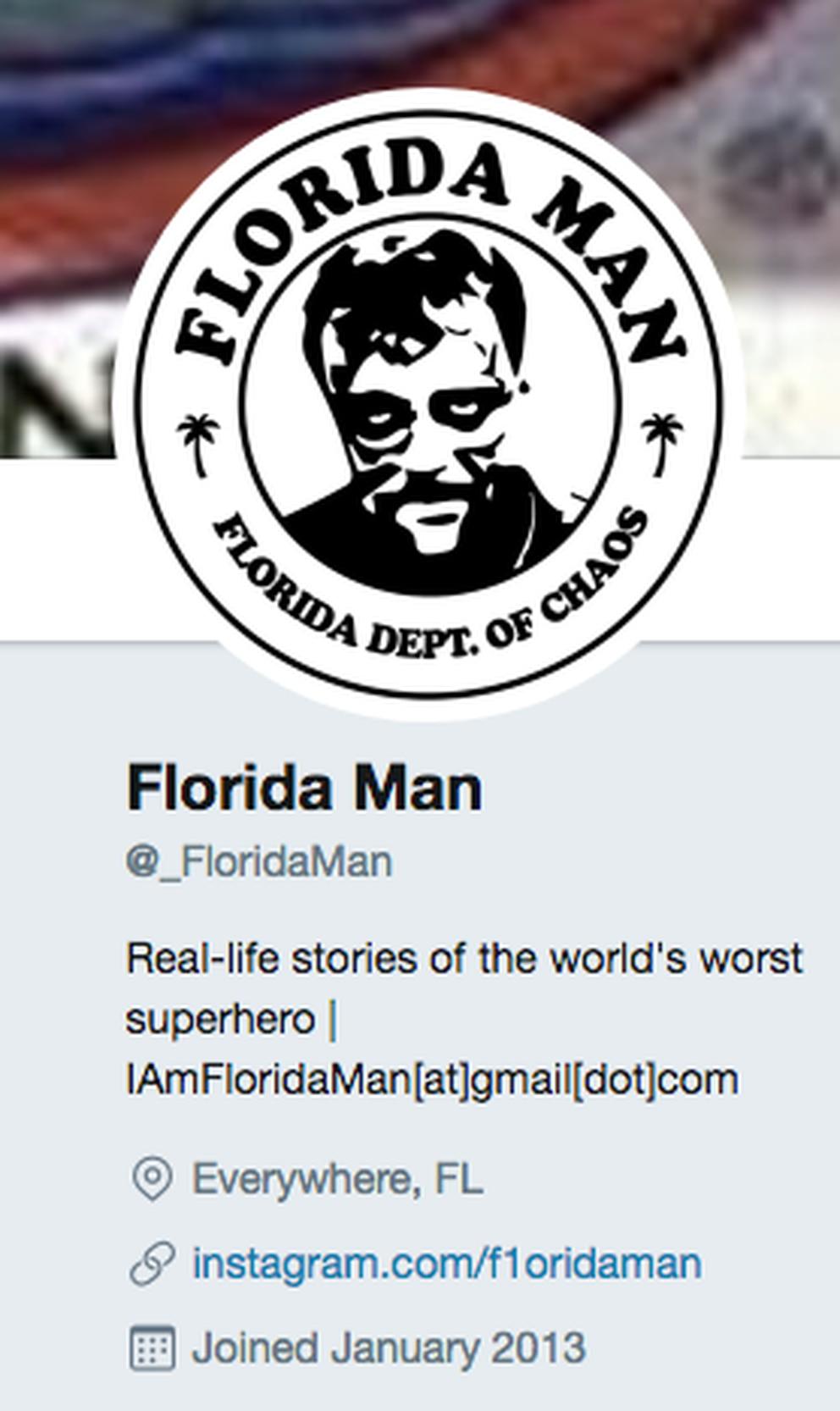 Screenshoot of the Florida Man Twitter account.