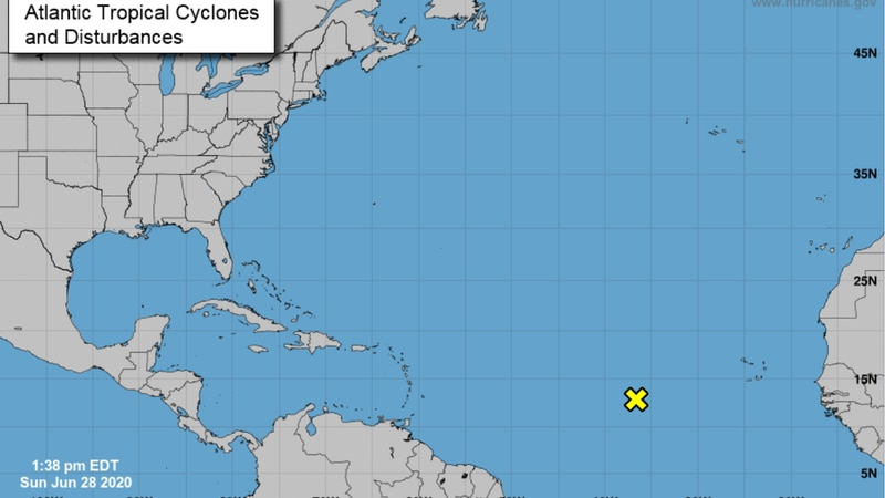 Hurricane forecasters eye a tropical wave in the Atlantic